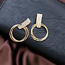 povoljno Naušnice-Žene Vedro mali dijamant Geometrijski Okrugle naušnice Naušnice Moda Jewelry Obala Za Dnevno 1 par