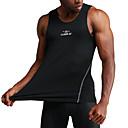 ราคาถูก เสื้อ, กางเกงขายาวและกางกางขาสั้นสำหรับใส่วิ่ง-UABRAV สำหรับผู้ชาย เสื้อกล้ามรัดรูป ขาว สีดำ สีเทา กีฬา แฟชั่น Elastane ชั้นฐาน การบีบอัดสูท การออกกำลังกาย ยิมออกกำลังกาย ออกไปทำงาน เสื้อไม่มีแขน ชุดทำงาน ระบายอากาศ แห้งเร็ว Sweat-wicking
