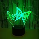halpa Koristevalot-usb powered outo yövalo 3d perhonen visuaalinen pöytälamppu energiansäästö silmähoito johti kevyt pöytävalaisin olohuoneeseen<5v