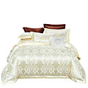cheap High Quality Duvet Covers-Duvet Cover Sets Luxury / Contemporary Silk / Cotton Blend Jacquard 4 PieceBedding Sets