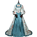 cheap Movie & TV Theme Costumes-Princess Queen Elizabeth Rococo Victorian 18th Century Costume Women's Dress Party Costume Costume Blue Vintage Cosplay Silk Masquerade Party & Evening 3/4-Length Sleeve Off Shoulder Floor Length