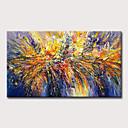 levne Abstraktní malby-Hang-malované olejomalba Ručně malované - Abstraktní Klasické Moderní Bez vnitřní rám