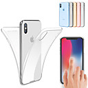 cheap iPhone Cases-Case For Apple iPhone XS / iPhone XS Max Shockproof / Ultra-thin / Transparent Full Body Cases Solid Colored Soft TPU for iPhone XS / iPhone XR / iPhone XS Max