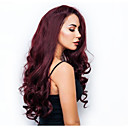 cheap Synthetic Lace Wigs-Synthetic Wig Curly Style Middle Part Capless Wig Burgundy Dark Red Synthetic Hair 34 inch Women's Women Burgundy Wig Very Long Natural Wigs