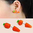 preiswerte Ohrringe-Damen Ohrring Gestlyte Ohrringe Vorne Hinten Ohrringe Karotte nette Art Für Kinder Schmuck Orange Für Verabredung 1 Paar
