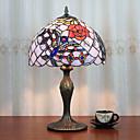 abordables Lampes de Table-12 pouces lumière de bureau artistique / fleur rose tiffany lampes ambiantes décoratif belle lampe de table pour résine intérieure chambre 110-120v 220-240v 40w * 1 ampoule non inclus