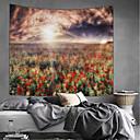 halpa Seinämaalaukset-Puutarha-teema / Kukkais-teema Wall Decor 100% polyesteri Moderni Wall Art, Seinävaatteet Koriste