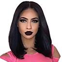 Χαμηλού Κόστους Περούκες από Ανθρώπινη Τρίχα-Remy Τρίχα 360 μετωπικής Δαντέλα Μπροστά Περούκα Κούρεμα καρέ Βαθιά διαίρεση στυλ Βραζιλιάνικη Yaki Straight Περούκα 130% 150% 180% Πυκνότητα μαλλιών / Ανθεκτικό στη Ζέστη / με τα μαλλιά μωρών