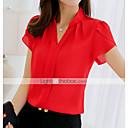 billige Sneakers til børn-Dame - Ensfarvet Skjorte Rød