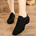 رخيصةأون جاز-نسائي أحذية الرقص كانفا أحذية جاز اكسفورد كعب سميك مخصص أسود / تمرين