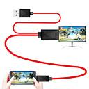 abordables Projecteurs-câble mhl micro usb 2.0 vers HDMI 1.4 câble adaptateur - mâle 1.8m (6ft)