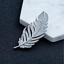 hesapli Moda Broşlar-Kadın's Kübik Zirconia Broşlar Çiçek Teması Basit Broş Mücevher Gümüş Uyumluluk Nişan Hediye Randevu Egzersiz Çalışma