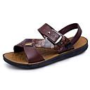 hesapli Ayak bileziği-Erkek Ayakkabı PVC Yaz Sandaletler Günlük / Dış mekan için Açık Kahverengi / Koyu Kahverengi
