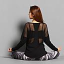 preiswerte Visors Kleidung-Damen Patchwork Laufshirt Sport Volltonfarbe Gitter Oberteile Yoga Laufen Fitness Langarm Sportkleidung Atmungsaktiv Rasche Trocknung Weich Dehnbar
