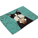 cheap Placemats-Contemporary Nonwoven Square Placemat 3D Cartoon Eco-friendly Table Decorations 1 pcs