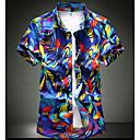 abordables Camisas de Hombre-Hombre Tallas Grandes Camisa, Cuello Inglés Delgado Geométrico