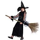halpa Halloween- ja karnevaaliasut-noita Mekot Cosplay-Asut Lasten Tyttöjen Hameet Halloween Halloween Karnevaali Masquerade Festivaali / loma Teryleeni Polyesteria Musta Karnevaalipuvut Patchwork