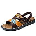 זול סנדלים לגברים-בגדי ריקוד גברים נעלי נוחות PVC קיץ סנדלים חום בהיר / חום כהה