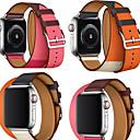 hesapli Smartwatch Bantları-Watch Band için Apple Watch Serisi 5/4/3/2/1 Apple Deri Döngü Gerçek Deri Bilek Askısı