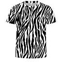 halpa Telineet ja jalustat-Miesten Pyöreä kaula-aukko Puuvilla Painettu 3D T-paita Musta