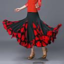 preiswerte Tanzkleidung für Balltänze-Für den Ballsaal Unten Damen Training / Leistung Polyester Muster / Druck / Horizontal gerüscht Hoch Röcke
