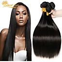 halpa Muotikorvakorut-6 pakettia Perulainen Suora 100% Remy Hair Weave -paketit Headpiece Hiukset kutoo Bundle Hair 8-28 inch Luonnollinen väri Hiukset kutoo Hajuton Pehmeä Silkkinen Hiukset Extensions Naisten