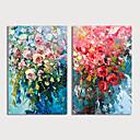 halpa Maisema maalaukset-Hang-Painted öljymaalaus Maalattu - Kukkakuvio / Kasvitiede Moderni Sisällytä Inner Frame