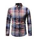 abordables Camisas de Hombre-Hombre Camisa A Cuadros Verde Trébol XL