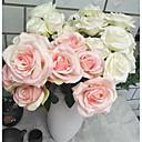 halpa Tekokukat-Keinotekoinen Flowers 3 haara Klassinen Perinteinen Häät Ruusut Pöytäkukka