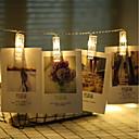 hesapli LED Şerit Işıklar-3M Dizili Işıklar 20 LED'ler Sıcak Beyaz Noel Düğün Dekorasyonu AA Bataryalar Powered / Piller Powered 1pc