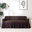 זול כיסויים-ספה לכסות גבוה חום כהה פופקורן קומבינטורית רכה פוליאסטר slipcovers