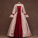 cheap Historical & Vintage Costumes-Roman Costumes Medieval Costume Women's Outfits Party Costume Red / Light Purple / Pink Vintage Cosplay Party Evening Long Sleeve Petal Sleeve Square Floor Length A-Line Plus Size