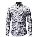 رخيصةأون تخفيضات الخاصة-رجالي قطن قميص هندسي أزرق XL