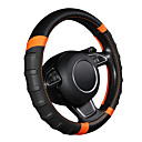 cheap Steering Wheel Covers-Car Steering Wheel Cover Breathable and Non Slip Microfiber Leather Steering Wheel Cover Universal 38cm/15 inch Orange and Black