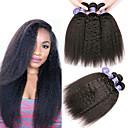 halpa Aitohiusperuukit-6 pakettia Intialainen Yaki Yaki Straight Käsittelemätön aitoa hiusta 100% Remy Hair Weave -paketit Hiukset kutoo Bundle Hair Yksi pakkaus ratkaisu 8-28 inch Luonnollinen Hiukset kutoo Silkkinen