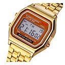 זול אביזרי אדים-לזוג שעון דיגיטלי דיגיטלי מתכת אל חלד כסף / זהב אור LED שעונים יום יומיים דיגיטלי וינטאג' אופנתי - זהב כסף שנה אחת חיי סוללה