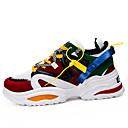 זול נעלי ספורט לגברים-בגדי ריקוד גברים נעלי קלונקי רשת קיץ ספורטיבי / יום יומי נעלי אתלטיקה ריצה / הליכה נושם שחור / אפור / קשת