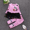 رخيصةأون أطقم ملابس البنات-مجموعة ملابس قطن كم طويل طباعة / كارتون بوهو للفتيات طفل صغير