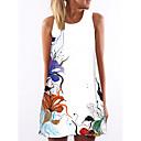 hesapli Moda Bileklikler-Kadın's Zarif A Şekilli Elbise - Çiçekli Diz üstü