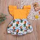 رخيصةأون مجموعات ملابس البيبي-قطع واحدة كم قصير طباعة للفتيات طفل