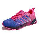 hesapli Kadın Atletik Ayakkabıları-Kadın's Ayakkabı Tissage Volant İlkbahar & Kış Atletik Ayakkabılar Koşu Düz Taban Günlük / Dış mekan için Mor / Siyah / Beyaz / Siyah / Kırmızı