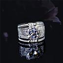 levne Prsteny-Pánské Kubický zirkon Retro styl Band Ring S925 Sterling Silver Kytky Klasické Vintage Elegantní Fashion Ring Šperky Stříbrná Pro Svatební Zásnuby 6 / 7 / 8 / 9