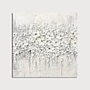 halpa Kukkamaalaukset-Hang-Painted öljymaalaus Maalattu - Abstrakti Kukkakuvio / Kasvitiede Moderni Sisällytä Inner Frame / Venytetty kangas