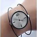 저렴한 패션 귀걸이-여성용 석영 빈티지 패션 블랙 실버 로즈 골드 스테인레스 스틸 석영 블랙 실버 로즈 골드 캐쥬얼 시계 1개 아날로그 1 년 배터리 수명