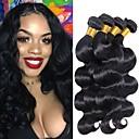 halpa Aitohiusperuukit-4 pakettia Intialainen Runsaat laineet 100% Remy Hair Weave -paketit Hiukset kutoo Pidentäjä Bundle Hair 8-28 inch Luonnollinen väri Hiukset kutoo Tanssia Pehmeä Tulokas Hiukset Extensions Naisten