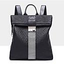 hesapli Sırt Çantaları-Kadın's Çantalar Deri / Sentetik sırt çantası Kristal Detaylar / Fermuar için Resmi / Okul İlkbahar yaz / Sonbahar Kış Siyah