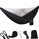 cheap Camping Furniture-Camping Hammock with Pop Up Mosquito Net Double Hammock Outdoor Portable Breathable Anti-Mosquito Parachute Nylon with Carabiners and Tree Straps for 2 person Hunting Fishing Hiking Black Green