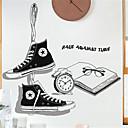 billige Vægklistermærker-kreativ sko butik tøj butik dekorationer væg klistermærker personlighed stuen studie litterære firma klasseværelse inspirerende klistermærker