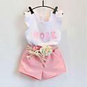 رخيصةأون مجموعات ملابس البيبي-مجموعة ملابس كم قصير طباعة للفتيات طفل