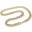 cheap Men's Necklaces-Men's White Geometrical Chain Necklace Vertical / Gold bar Punk European Trendy Hippie Cool Gold 60 cm Necklace Jewelry 1pc For Street Club
